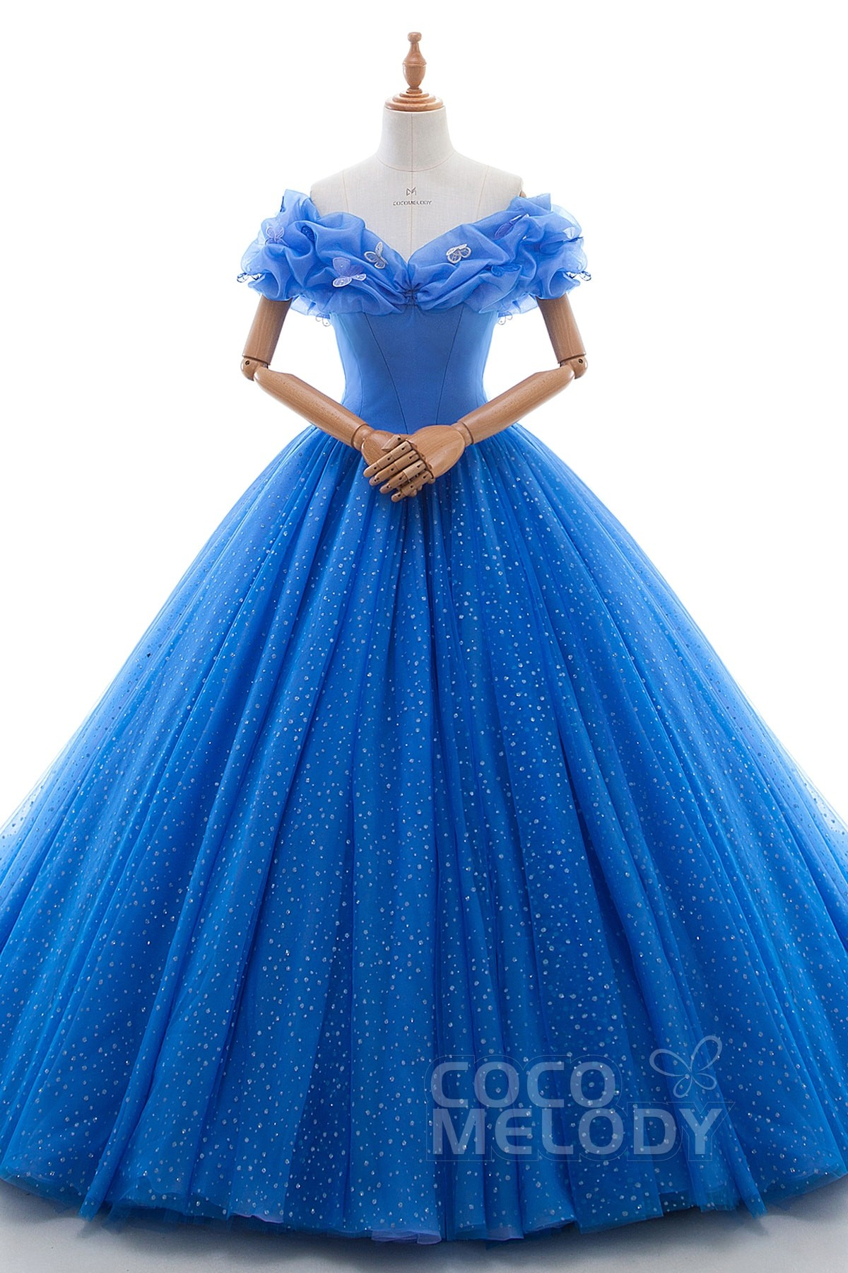 Princess Court Train Tulle Quinceanera Dress Ld3454